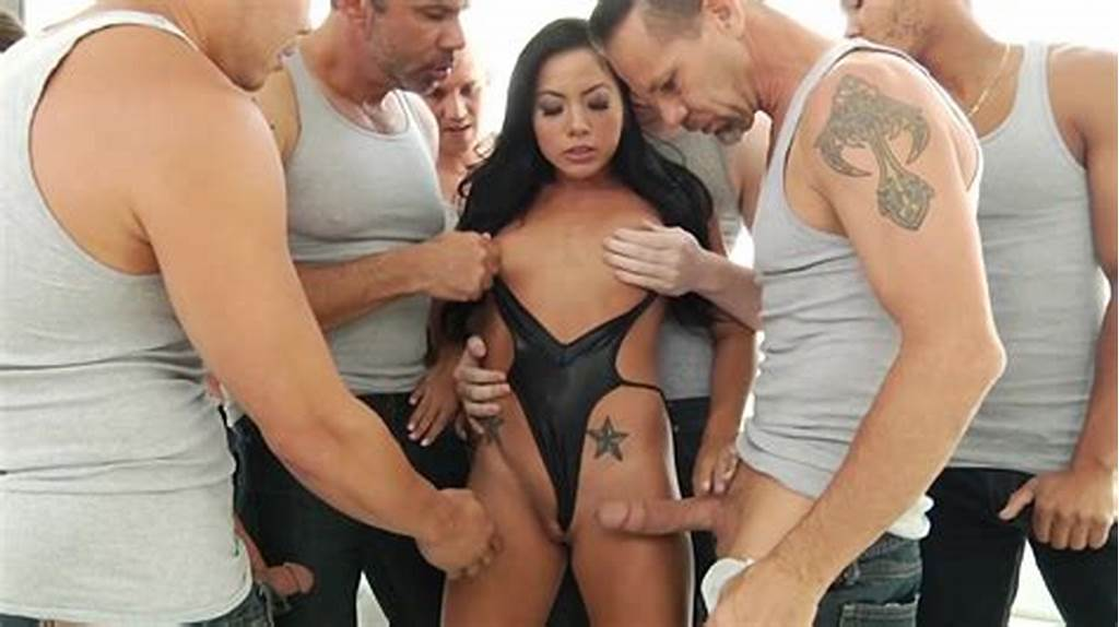 #Morgan #Lee #Gets #Covered #In #Jizz #After #Crazy #Bukkake #Experience