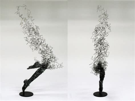 perceive life differently oddly lifelike wire sculptures