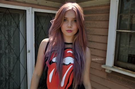 Beautiful Colored Hair Girl Pretty Red Image 201890
