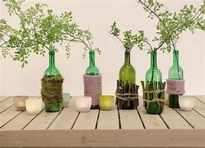 Basteln Mit Glasflaschen : 17 tolle diy ideen f r basteln mit glasflaschen ~ Watch28wear.com Haus und Dekorationen