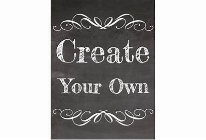 Create Sign Printable Clipart Chalkboard Own Templates