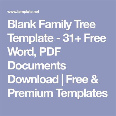 Family Tree Template 8 Free Word Pdf Document Die Besten 25 Leere Stammbaumvorlage Ideen Auf