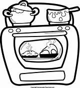 Oven Open Gingerbread Preschool Coloring Thanksgiving Homemade Template sketch template