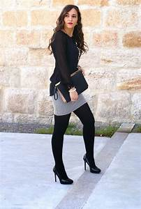 27 Outfits to Wear with Black Pantyhose - Outfit Ideas HQ