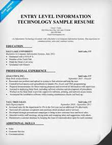 entry level information technology resume sle http resumecompanion com it information