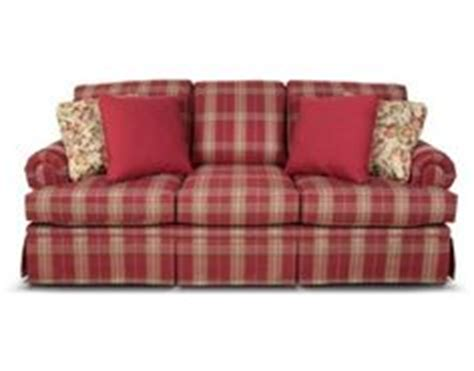 red plaid sofa broyhill country plaid sofa and loveseat broyhill roll arm light