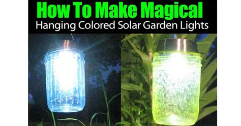 how to make outdoor solar lights how to make magical hanging colored solar garden lights