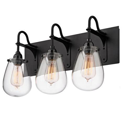 3 Light Bathroom Light Fixture by Tear Drop Glass Vanity Light 3 Light Doable Home