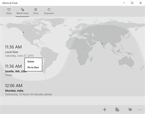 add clocks set alarms windows alarms clocks app