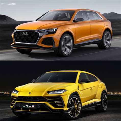 photo comparison audi  concept  lamborghini urus