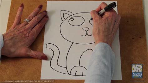teaching kids   draw   draw  kitten youtube