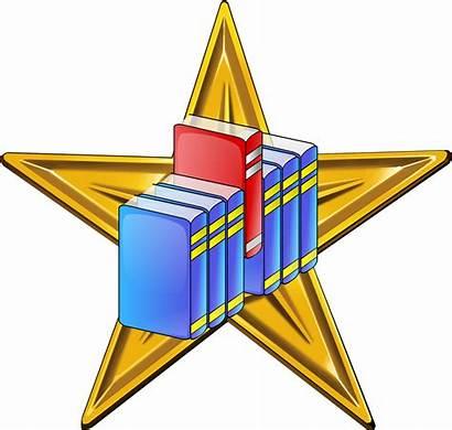 Clipart Librarian Barnstar Hires Commons Wikimedia Transparent