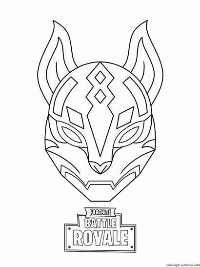 Fortnite Coloriage Drift Mask Ultimate Imprimer Carnaval