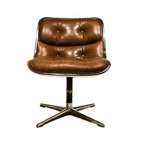 Knoll Pollock Chair Replica by 2 Original Leather Knoll Pollock Executive Swivel Side Arm