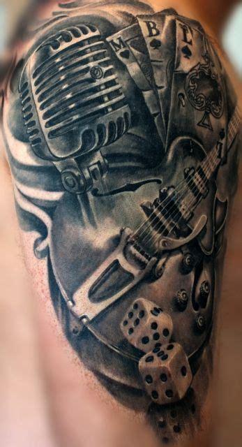 rockabilly favorit tattoo ideen mikrofon tattoo und