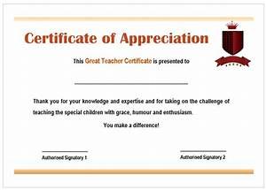 11 printable certificates of appreciation for teachers best teacher awards demplates for Certificate of appreciation for teachers