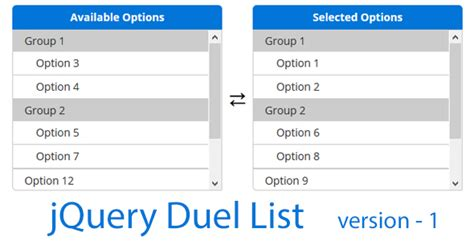 [free Download] Jquery Dual List