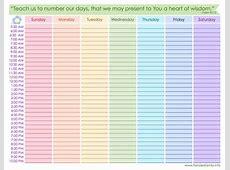 8 Best Images of Free Printable Blank Weekly Schedule