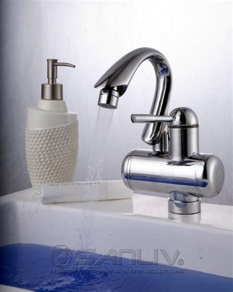 Install Kitchen Sink Drain Plumbing by Electric Instant Water Washbasin Faucet For Russian