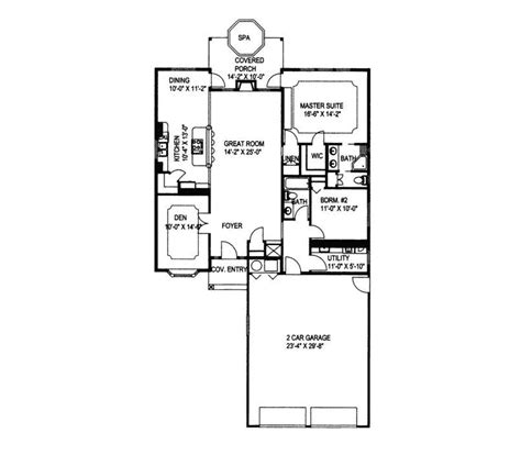 southwestern house plans elkmont southwestern home plan 088d 0189 house plans and more