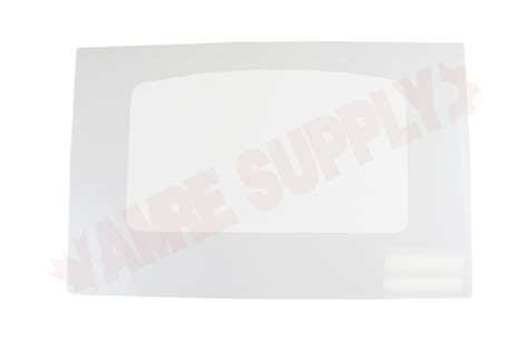 wsl ge range outer oven door panel glass white amre supply