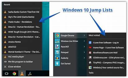Jump Windows Lists Recent Remove Gtx 2oc