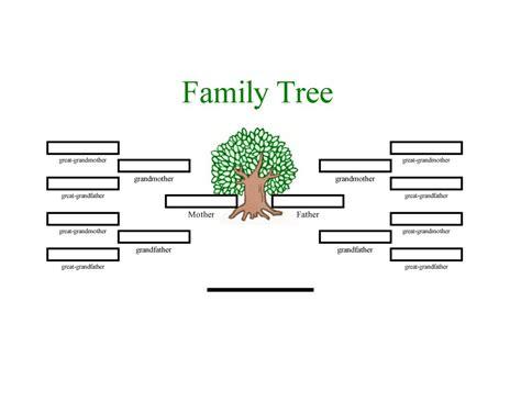 Family Tree Information Template Costumepartyrun
