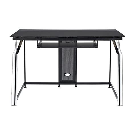 how much is a desk black glass chrome computer desk trolley review and photo