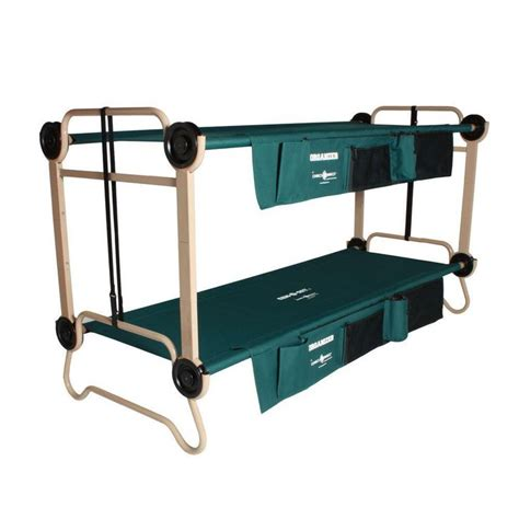 32 in steel frame green bunkbable beds leg extensions