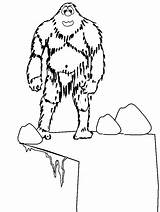 Coloring Pages Winter Yeti Abominable Snowman Printable Colouring Dessin Rocket Ship Rudolph Coloriage Fantasy Monster Snow Print Drawing Et Cie sketch template