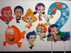 leilani s heavenly cakes flat hand painted bubble guppies