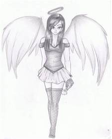 Anime Angel Drawings Sketches