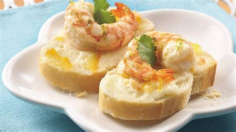 shrimp canapes recipes citrus marinated shrimp canap 233 s recipe from pillsbury com