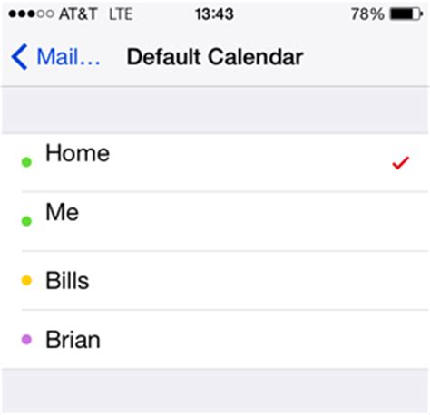 default calendar iphone how to set default accounts for mail contacts and