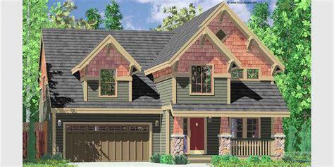 ft wide  story craftsman plan   bedrooms