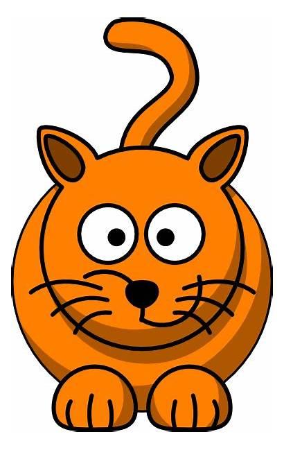 Clip Cat Looking Clipart Down Vector Cartoon