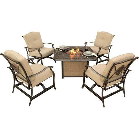 hanover traditions 5 patio pit seating set with