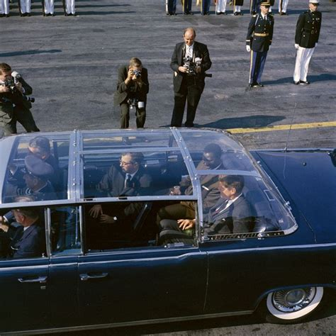 Jfk Limo by Jfk In The Limousine With The Plexiglass Top Attached