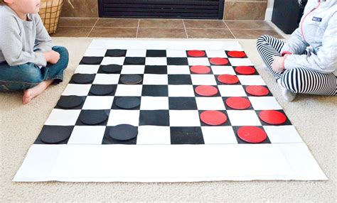 for checkers diy checkers set for kids project nursery