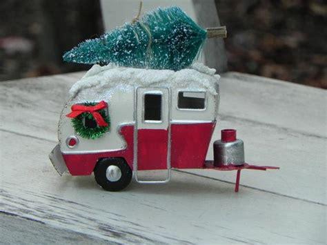 christmas miniature camper trailer fairy garden