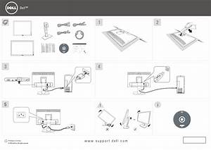 Dell P2213 Monitor Setup Diagram
