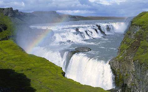 Gullfoss Waterfall Backgrounds by Iceland Waterfalls Gullfoss 1920x1080 Wallpaper Free