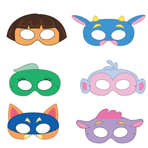 adventurer printable masks sly fox  monkey girls