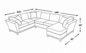 Cindy crawford home metropolis indigo 3 pc sectional for Sectional sofa depth