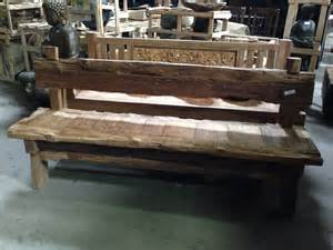 Recycled Wood Bench by Rustic And Antique Wood Benches San Diego Reclaimed Wood