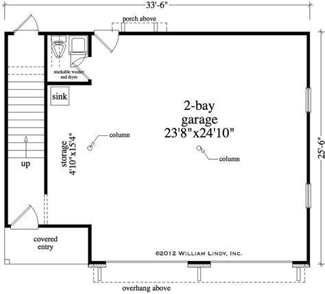 1 Bedroom, 1 Bath Bungalow House Plan   #ALP 09B2
