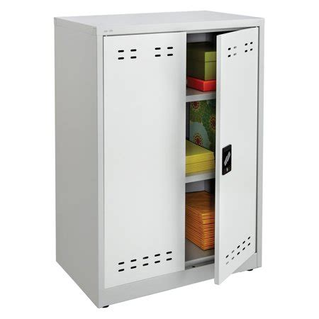 storage cabinets walmart safco products steel storage cabinet with 2 shelves