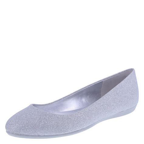 american eagle clinton womens glitter ballet flat shoe