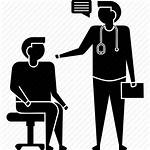 Doctor Patient Icon Visit Hospital Clinic Medical