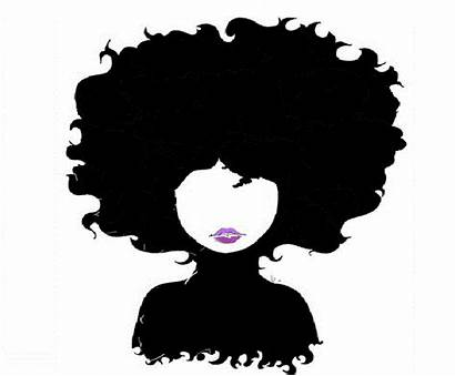 Hair Natural African Afro Cartoon Silhouette Clip